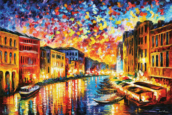 Leonid Afremov - Venice Grand Canal Affiche