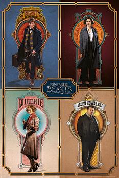 Les Animaux fantastiques - Framed Cast Poster