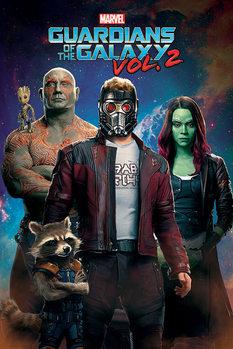 Les Gardiens de la Galaxie Vol. 2 - Characters In Space Affiche