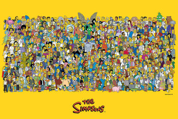 Les Simpson - Characters Poster