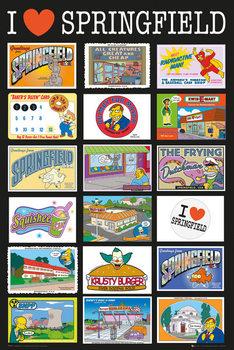 Les Simpson - Postcards Affiche