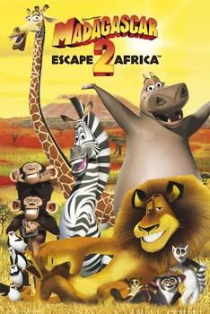 MADAGASCAR 2 - cast Poster