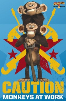 MADAGASCAR 2 - monkeys Poster