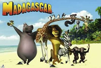 MADAGASCAR - on the beach Poster