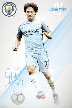 Manchester City - Silva 16/17 Affiche