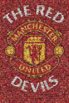 Manchester United - mosaic Affiche