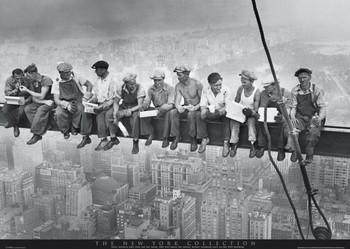 Men on girder - New York Affiche