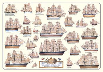 Merchant sailing ships Poster