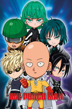 One Punch Man - Chibi Affiche
