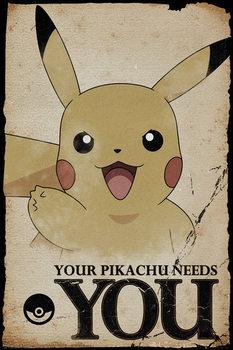 Pokemon - Pikachu Needs You Affiche