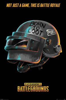 PUBG - Born To Loot Poster