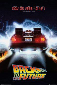 Retour vers le futur - Delorean Poster