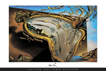 Salvador Dali - Clock Explosion Affiche