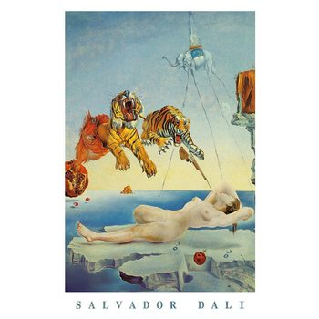 Savador Dali - Dream Caused By A Bee Flight Poster
