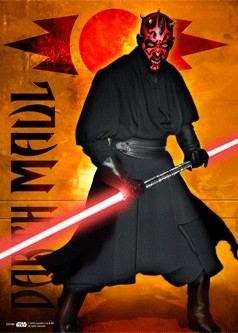 STAR WARS - darth maul Poster en 3D
