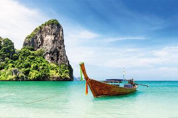 Thaïlande - Thai Boat Poster