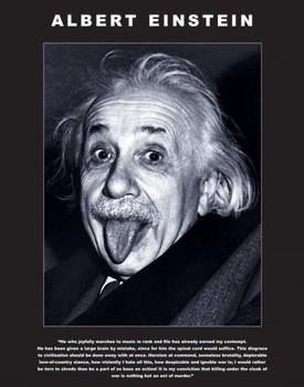 Albert Einstein - tongue - плакат (poster)