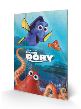 Poster su legno Alla ricerca di Dory - Characters