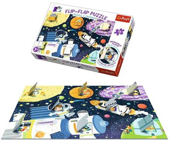 Puzzle Flip-Flap Puzzle - Space