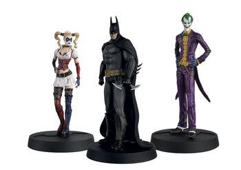 Statuetta DC - Arkham Batman, Joker and Harley (Set)