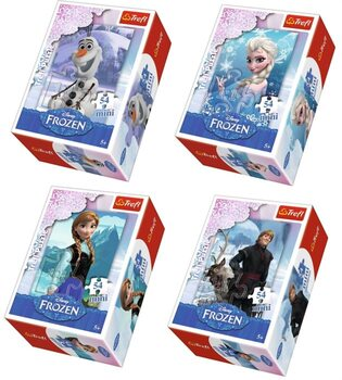 Puzzle Frozen: Il regno di ghiaccio 4in1