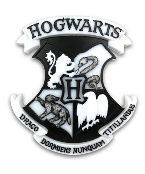 Lampada Harry Potter - Hogwarts Shield