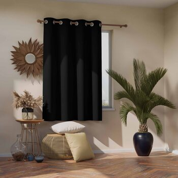 Κουρτίνα Amelia Home - Blackout Black 1 τεμ