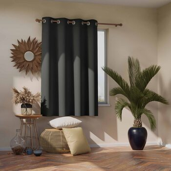 Gardin Amelia Home - Blackout Charcoal 1 st