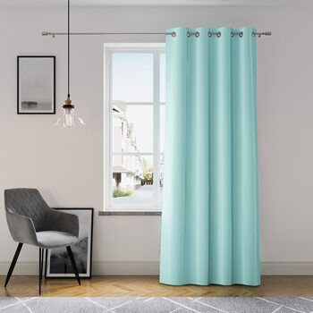 Cortina Amelia Home - Eyelets Azure 1 PC