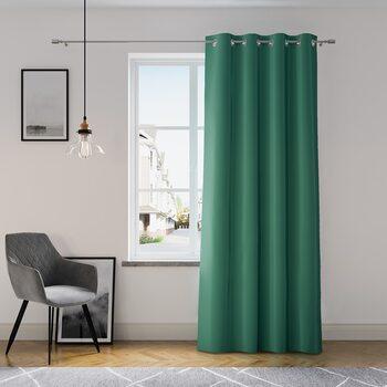 Κουρτίνα Amelia Home - Eyelets Dark Green 1 τεμ