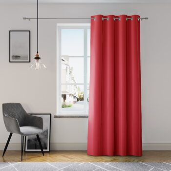 Gordijn Amelia Home - Eyelets Red 1 pc