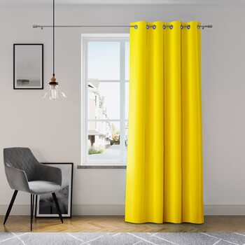 Kurtyna Amelia Home - Eyelets Yellow 1 szt