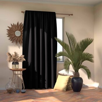 Gordijn Amelia Home - Pleat Black 1 pc