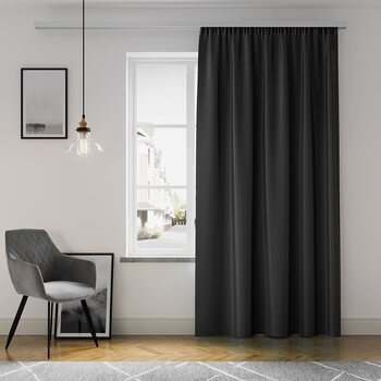 Gardin Amelia Home - Pleat Black 1 stk
