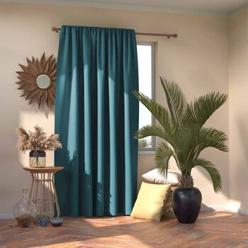 Gardin Amelia Home - Pleat Blue 1 stk