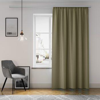 Κουρτίνα Amelia Home - Pleat Khaki Brown 1 τεμ