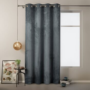 Gordijn Amelia Home - Velvet Charcoal 1 pc