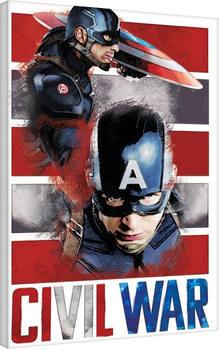 Vászon Plakát Amerika Kapitány: Polgárháború - Split