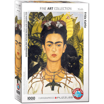 Puzzle Frida Kahlo - Self-Portrait with Hummingbird