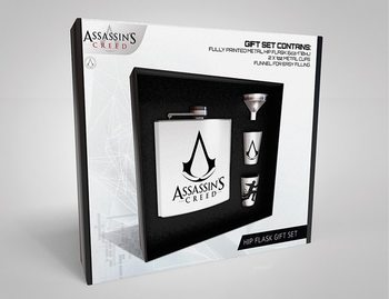 Heupfles: Cadeau set Assassins Creed - Logo