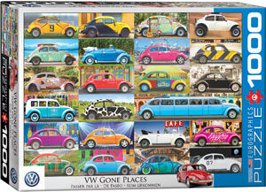 Puzzle VW Beetle - Gone Places