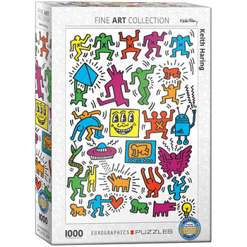 Puzzle Collage by Keith Haring