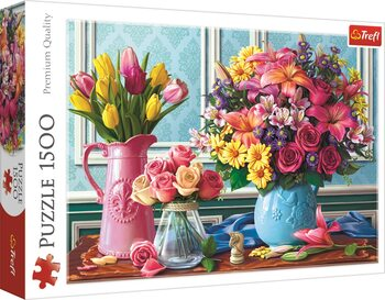 Puzzle Flowers in Vases