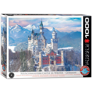 Puzzle HDR-Neuschwanstein in Winter