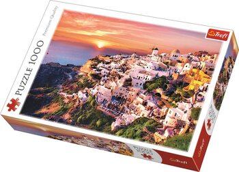 Puzzle Sunset over Santorini