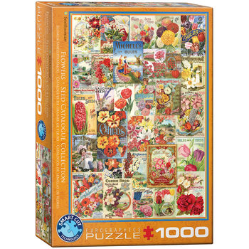 Puzzle Flower Seed Catalog Covers