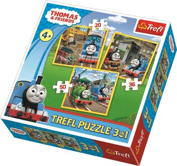 Puzzle Thomas and Friends: Thomas Goes into Action 3in1