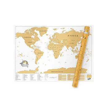 Scratch Map World XL