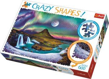 Puzzle Crazy Shapes - Aurora over Iceland