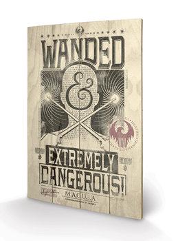 Poster su legno Animali fantastici e dove trovarli - Extremely Dangerous